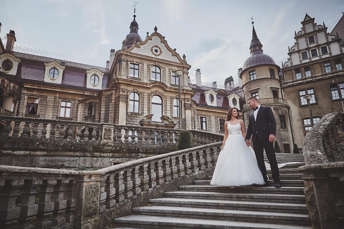 Plener ślubny na zamku w Mosznej 38