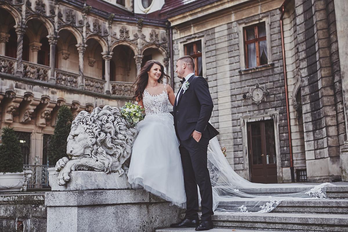 Plener ślubny na zamku w Mosznej 4