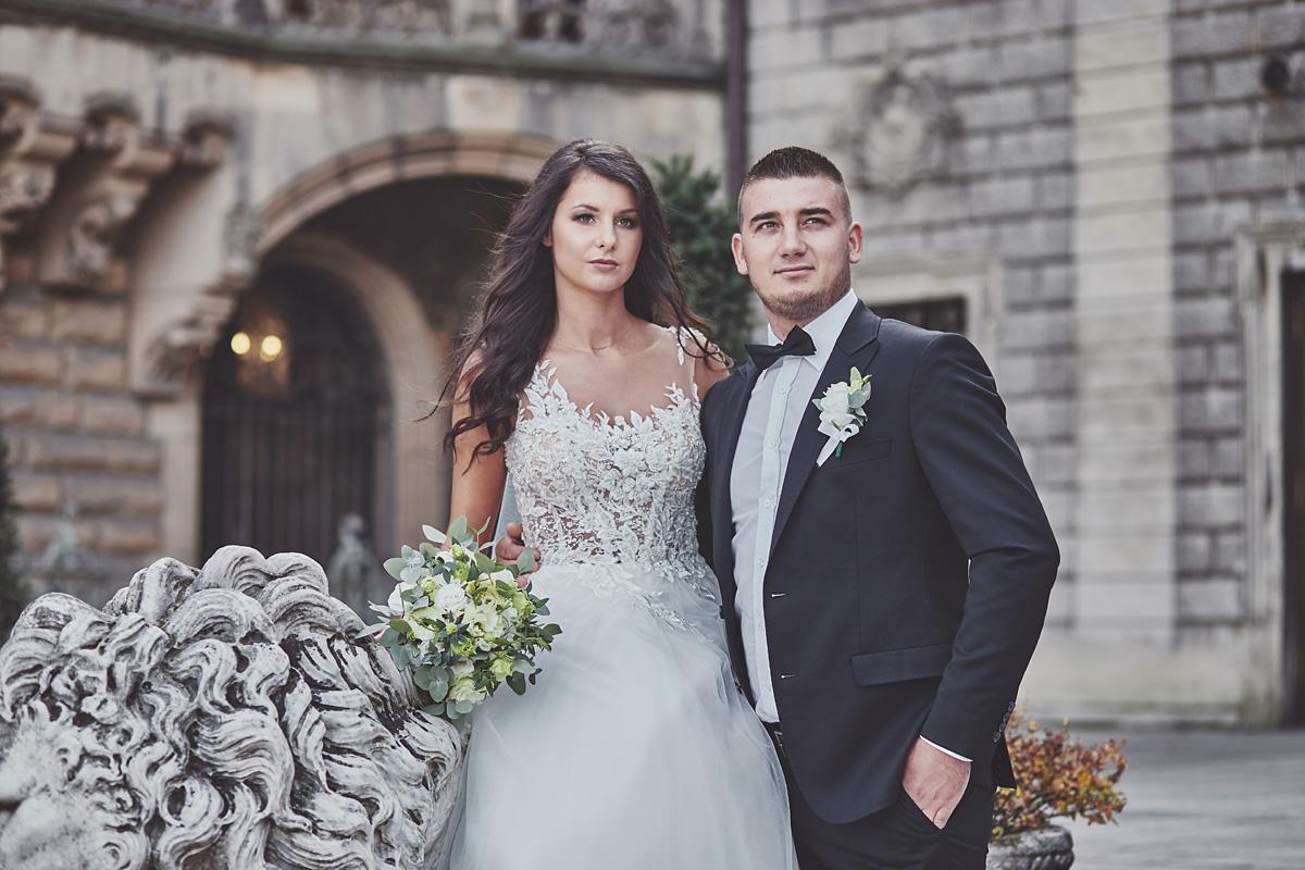 Plener ślubny na zamku w Mosznej 5