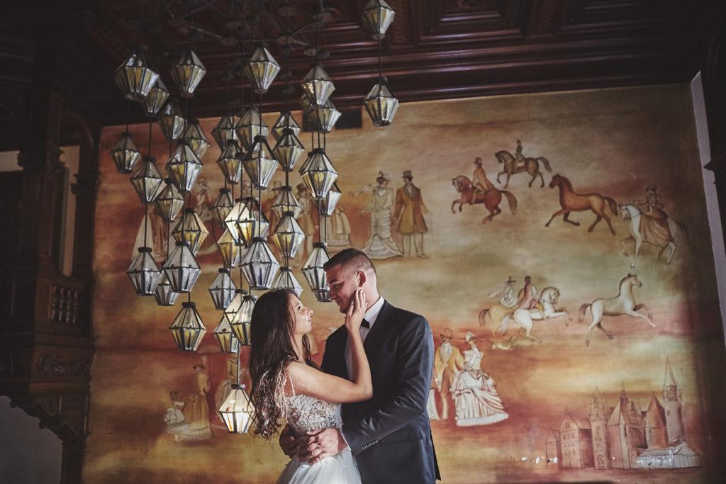 Plener ślubny na zamku w Mosznej 54